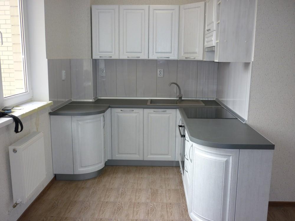 Белый кухонный гарнитур-Кухня МДФ в ПВХ «Модель 249»-фото2