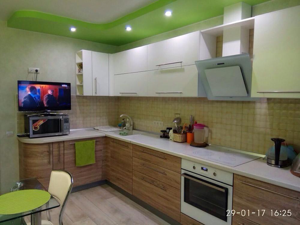 Встроенная кухня-Кухня МДФ в ПВХ «Модель 220»-фото1