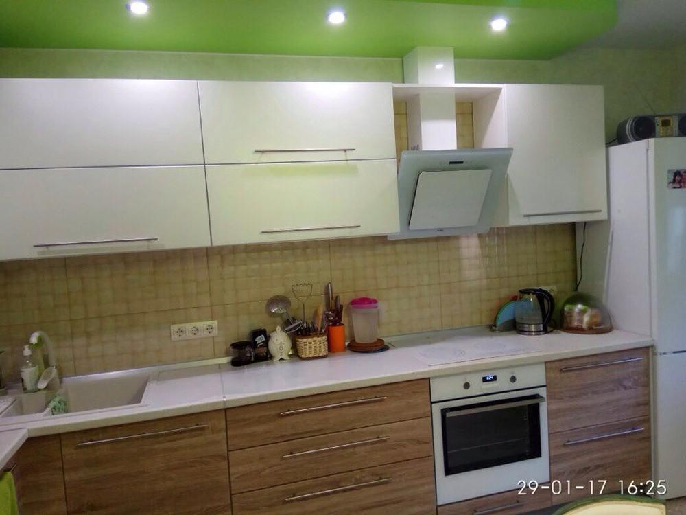 Встроенная кухня-Кухня МДФ в ПВХ «Модель 220»-фото3