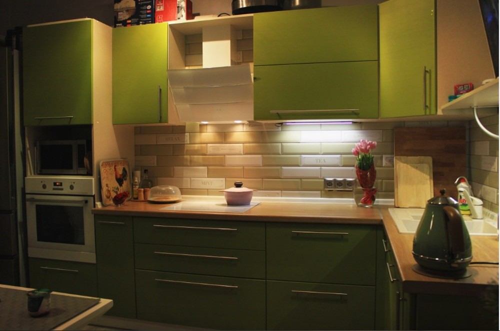 Встроенная кухня-Кухня МДФ в ПВХ «Модель 221»-фото2